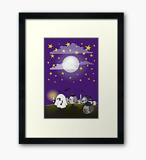 Lámina enmarcada grupo de erizos de halloween