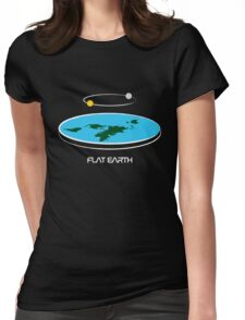 Flat Earth Theory Diagram Womens Fitted T-Shirt