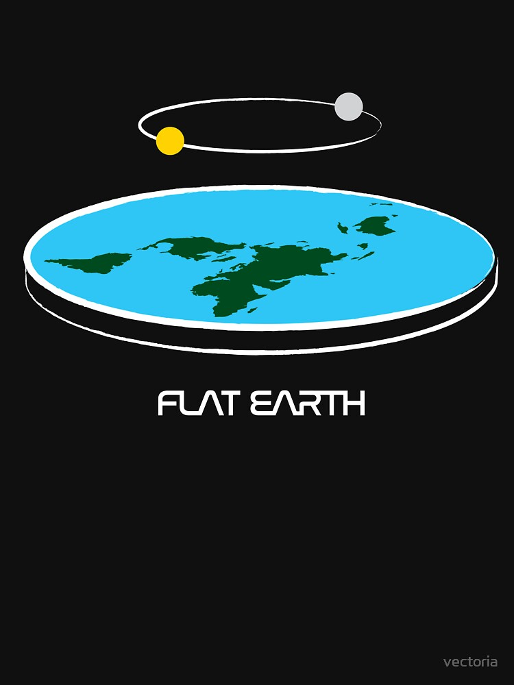 Flat Earth Theory Diagram | Unisex T-Shirt