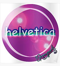helvetica sample for cool designers Poster
