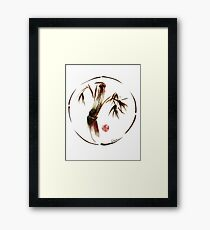 """eternity"" :  Enso sumi-e dry brush acrylic painting   Framed Print"