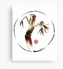 """eternity"" :  Enso sumi-e dry brush acrylic painting   Metal Print"