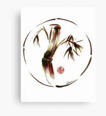 """eternity"" :  Enso sumi-e dry brush acrylic painting   Canvas Print"
