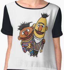 Bert And Ernie Women's Chiffon Top