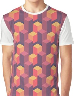 Sunset Isometric Graphic T-Shirt