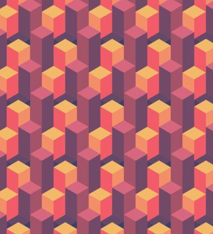 Sunset Isometric Sticker