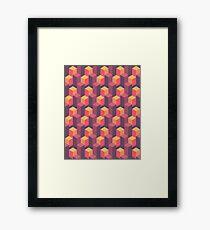 Sunset Isometric Framed Print