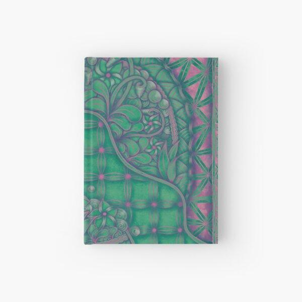 Fantasie_Green/Fuchsia Hardcover Journal