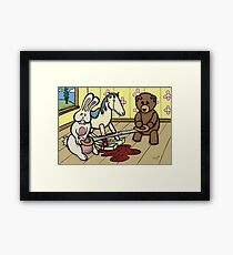 Teddy Bear and Bunny - The Price Of Freedom Framed Print