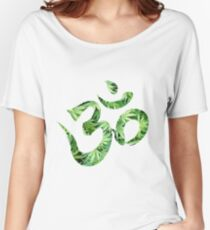 Ohm made of marijuana leaves Women's Relaxed Fit T-Shirt