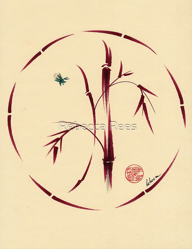 "Original Enso Zen Painting Throw Pillows: Original Enso Zen Painting"" By Rebecca"