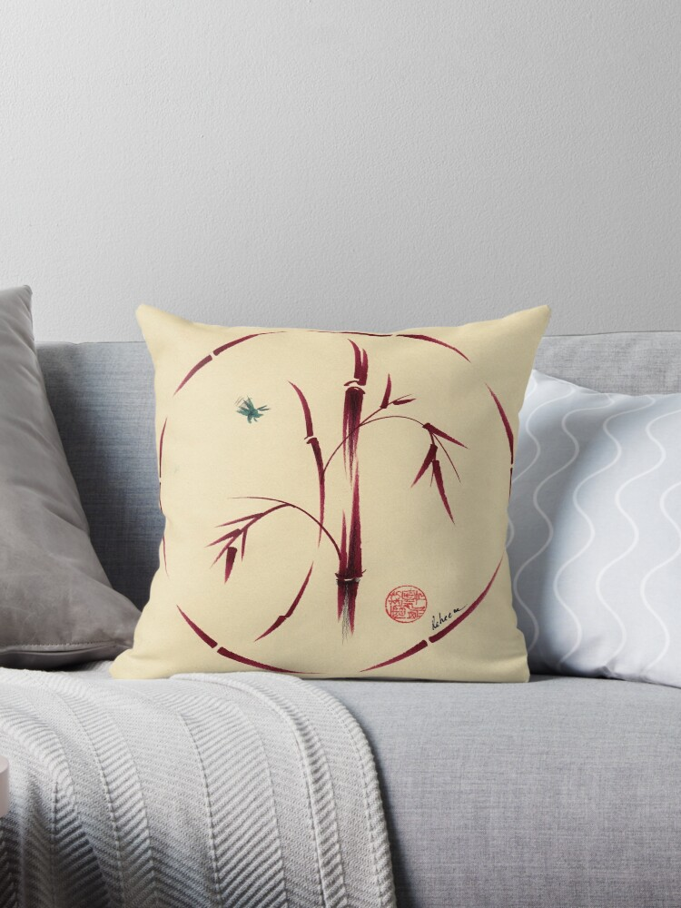 """Sacred Circles A Guide To Creating Your Own Women S: Original Enso Zen Painting"""" Throw Pillows"""