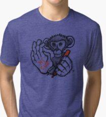 Monkey Saying 'Hi Cuz' Tri-blend T-Shirt