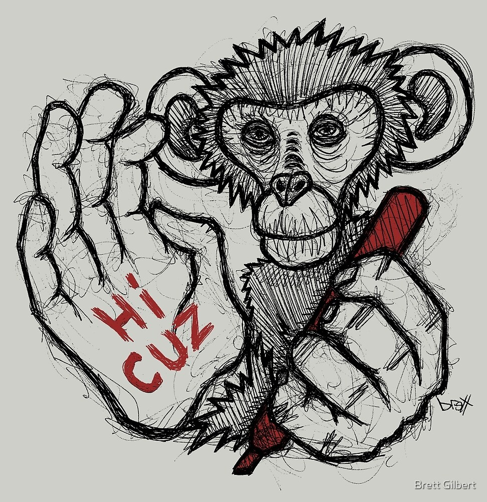 Monkey Saying 'Hi Cuz' by Brett Gilbert