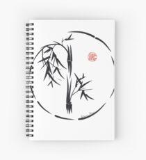 PASSAGE  - Original sumi-e enso ink brush art Spiral Notebook