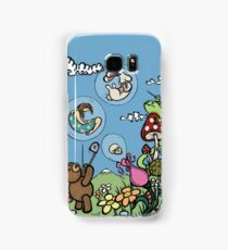 Teddy Bear And Bunny - The Bubble Flower Samsung Galaxy Case/Skin