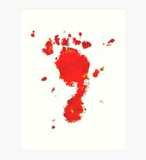 Bloody Foot Clan Art Print
