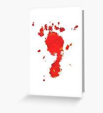Bloody Foot Clan Greeting Card