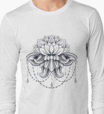 ornamental Lotus Long Sleeve T-Shirt