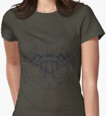 ornamental Lotus Womens Fitted T-Shirt
