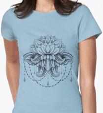 ornamental Lotus Womens Fitted T-Shirt