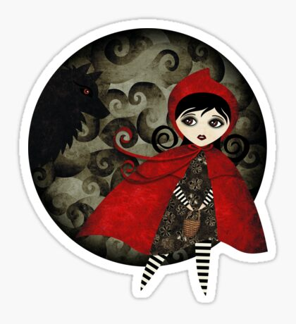 Little Red Capuccine Sticker