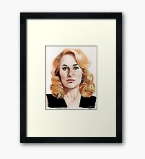 Gillian Anderson color pencil Framed Print