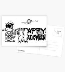 Halloween Skeleton Duck - Duck Logic Postcards