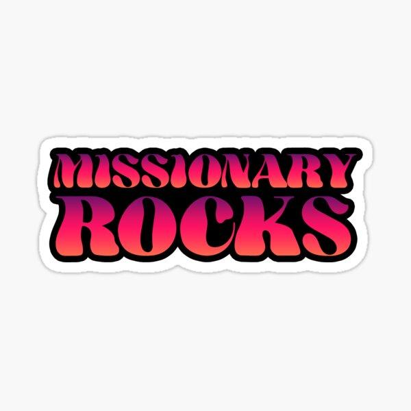 Missionary Rocks Groovy Sunset Sticker
