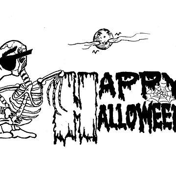 Halloween Skeleton Duck MUG - Duck Logic by Dave-id