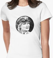 WW2 Army Girl Women's Fitted T-Shirt