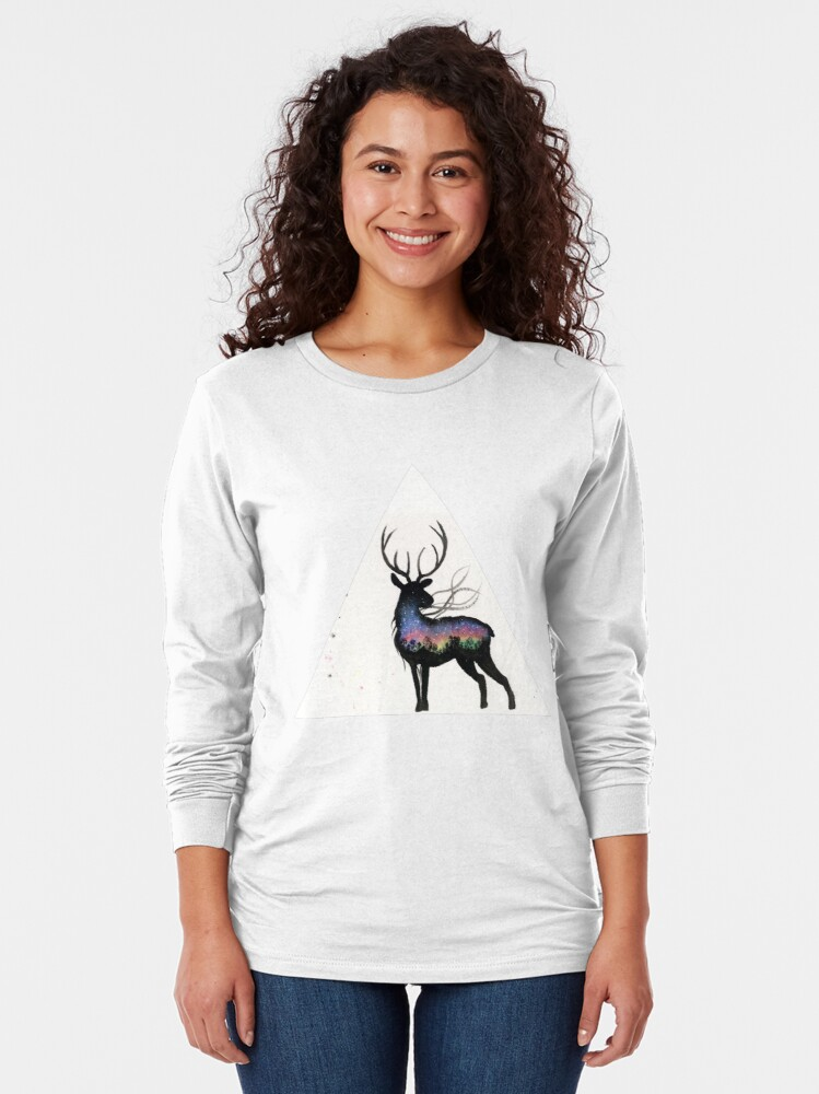 Alternate view of Aurora Australis Stag Long Sleeve T-Shirt