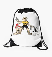 Bad Ass Charlie Brown Drawstring Bag