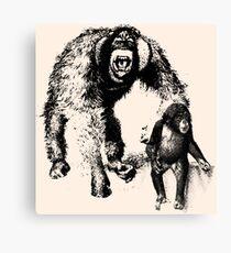 vector monkey Canvas Print