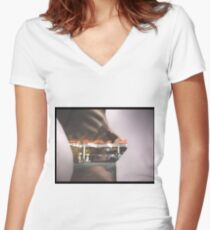 Gas Station Dreams Women's Fitted V-Neck T-Shirt