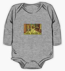 Times Square New York Vintage Travel Decal One Piece - Long Sleeve