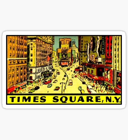 Times Square New York Vintage Travel Decal Sticker