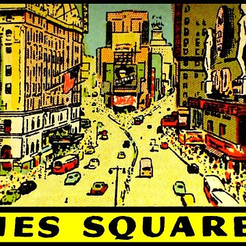 Times Square New York Vintage Travel Decal by hilda74