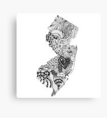New Jersey Doodle Canvas Print