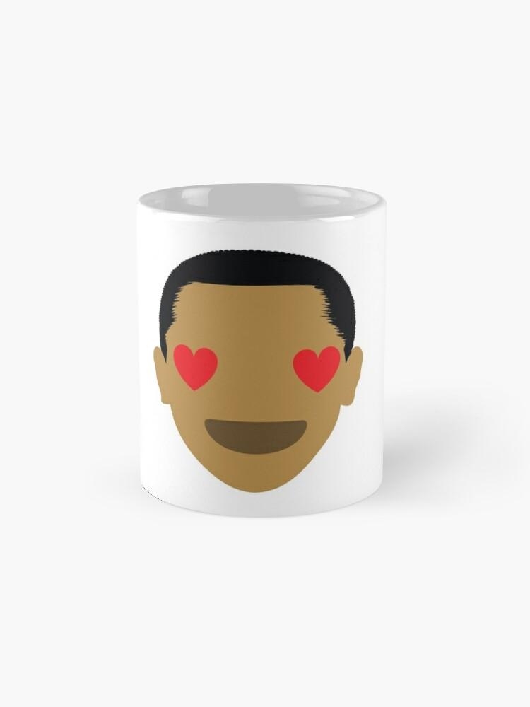 "Alternate view of Barack ""The Emoji"" Obama Heart and Love Eyes Mugs"