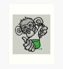 Lab Monkey Art Print