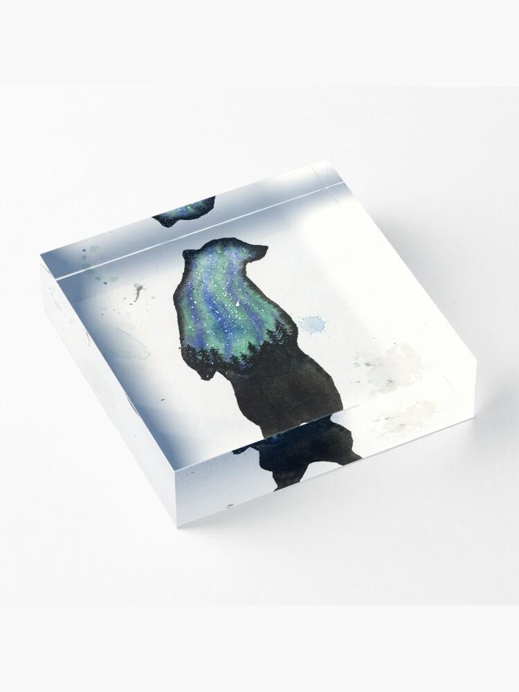Alternate view of Auros Borialis Bear  Acrylic Block