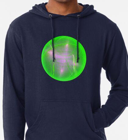 Green light planet #Fractal Art Lightweight Hoodie