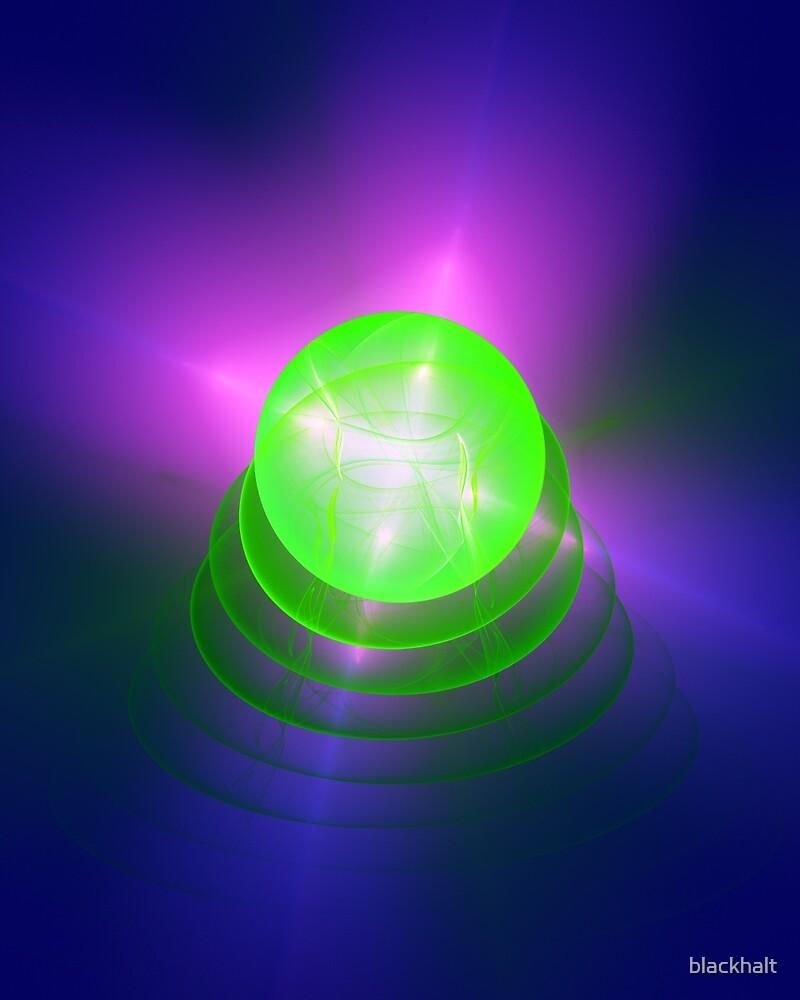 Green light planet #Fractal Art by blackhalt