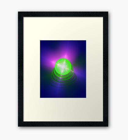 Green light planet #Fractal Art Framed Print