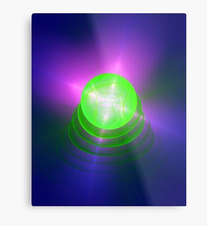 Green light planet #Fractal Art Metal Print