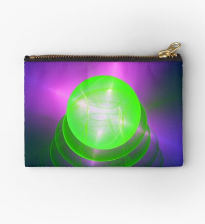 Green light planet #Fractal Art Zipper Pouch