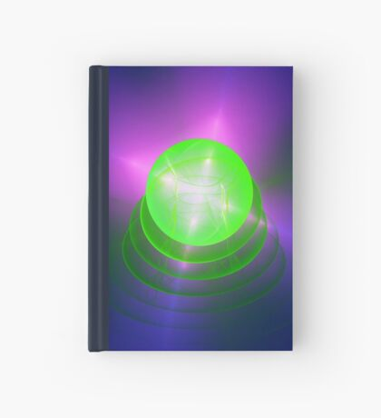 Green light planet #Fractal Art Hardcover Journal