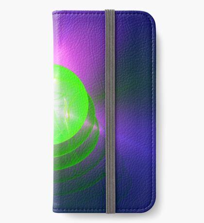 Green light planet #Fractal Art iPhone Wallet