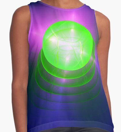 Green light planet #Fractal Art Contrast Tank
